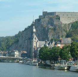 Dinant - la Meuse - collégiale - citadelle