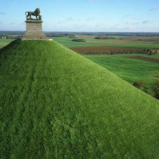 Aerial view of the Lion's Mound in Braine l'Alleud (Waterloo)